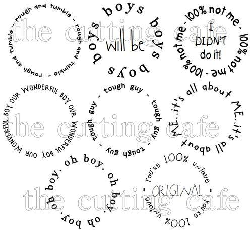 Assorted boy circles