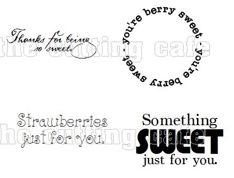 Strawberry sentiments