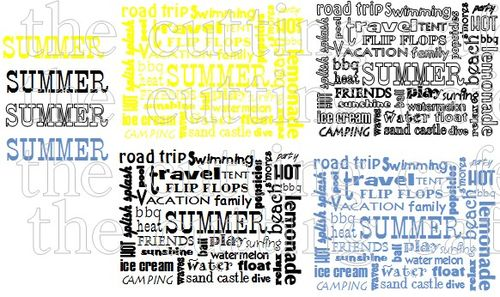 Summer word block