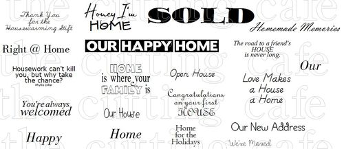 picture relating to Welcome to Our Open House Printable titled The Reducing Restaurant: WELCOME Dwelling.PRINTABLE STAMP Fixed