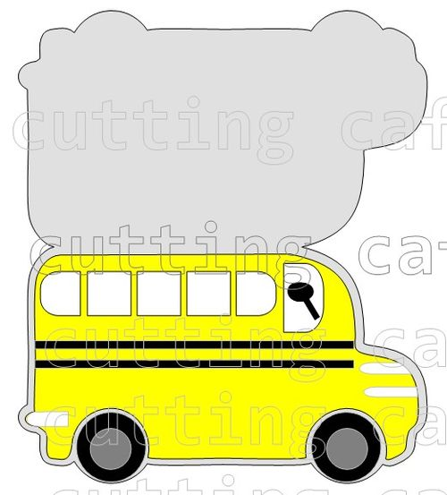 Bus shaped card