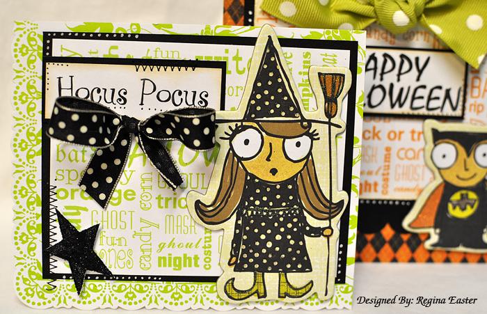 Halloween word block