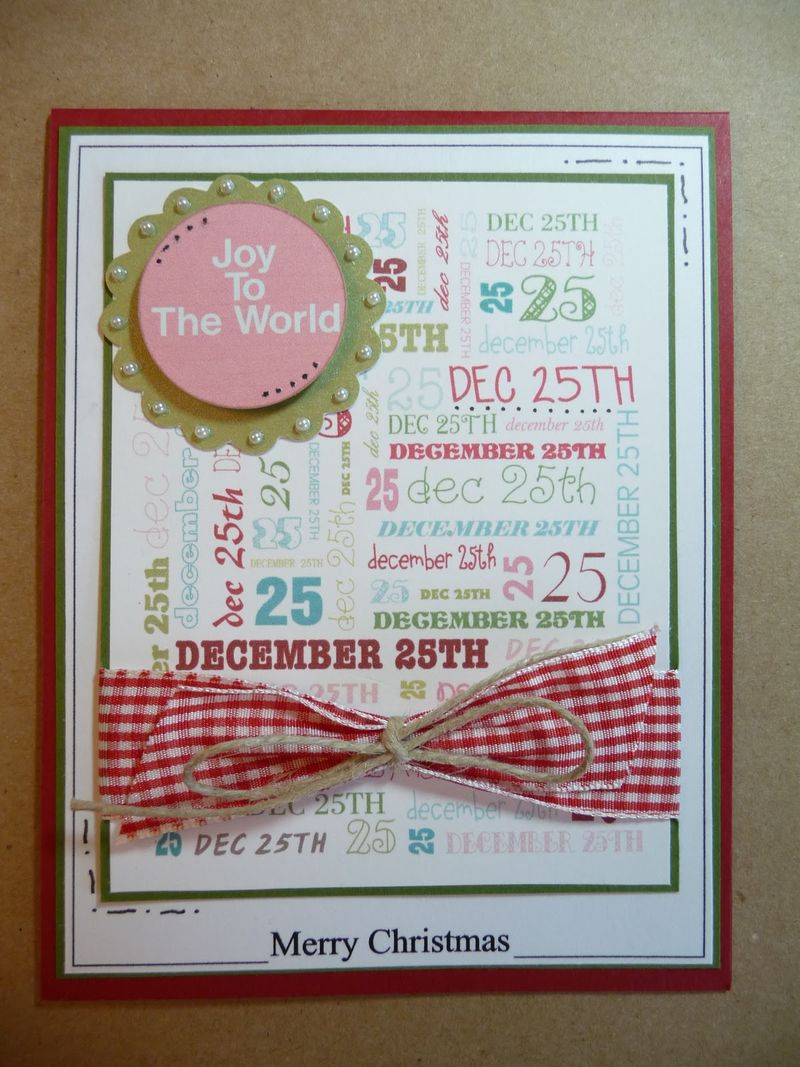 Dec 25  Jeri Thomas - Christmas mini colored set and Christmas Frames