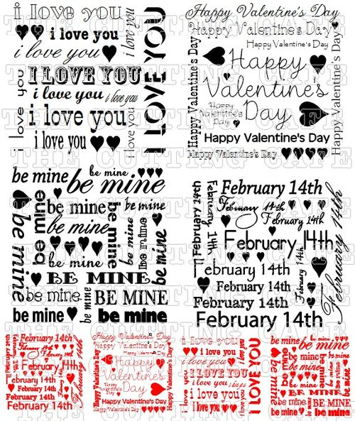 VALENTINE MINI BACKGROUNDS