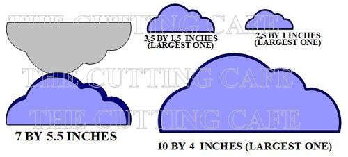 CLOUD SHAPED CARD SET