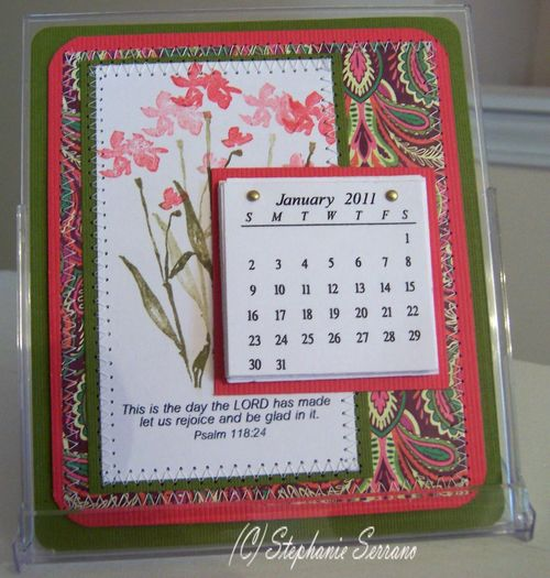 Calendar holder  Stephanie Serrano - 2011 Calendar set and Rejoice in the Lord set