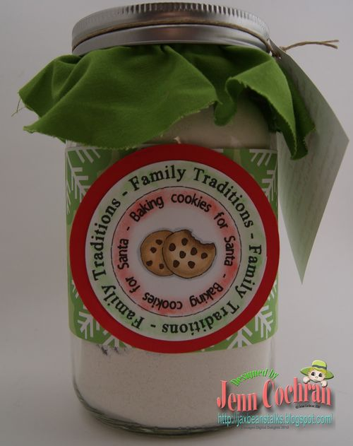 Christmas Traditions Cutting Cafe Cookie Jar