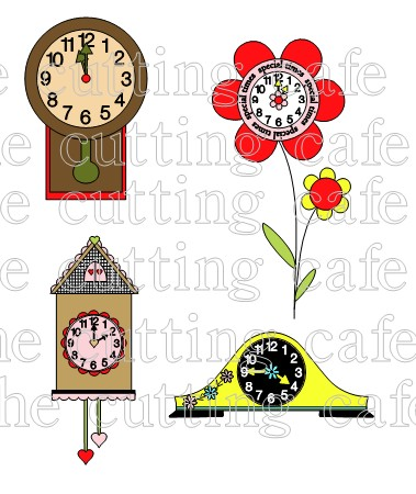Colorful clocks