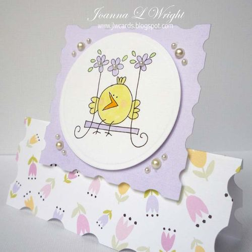 Chick card  Joanna Wright - Nesting frame shaped card set