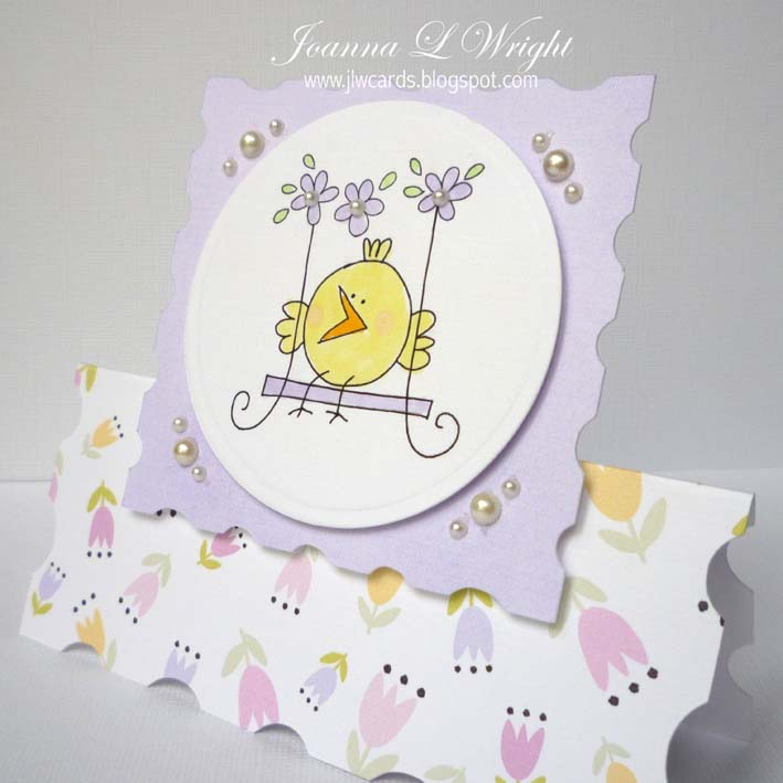 Chick card  Joanna Wright - Nesting frame shaped card set