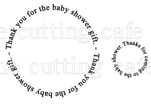 Baby shower circles