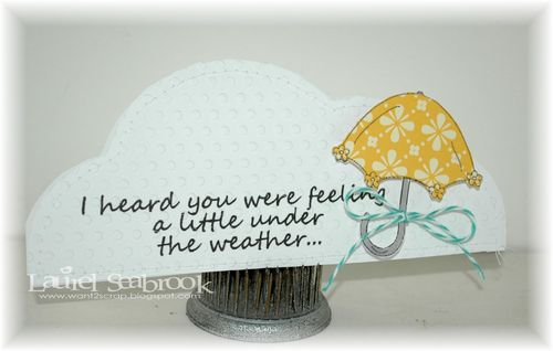 A little under the weather  Laurel Seabrook - Cloud nesting shaped card set and rain rain go away