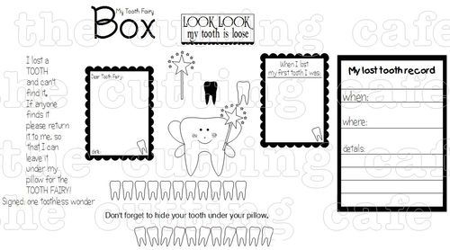 Tooth shaped card set 1