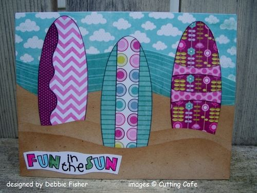 Fun in the Sun  Debbie Fisher - Assorted surfboards