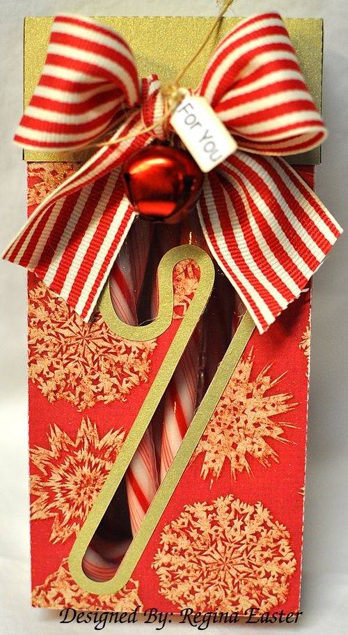 Regina candy cane box or 8 by 3 inch box