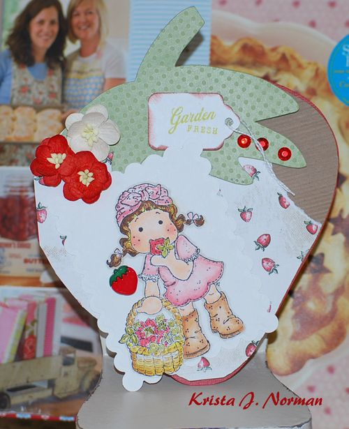 Garden Fresh  Krista Norman - Strawberry shaped card