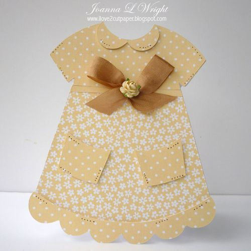 Dress  Joanna Wright - Dress shaped card 2