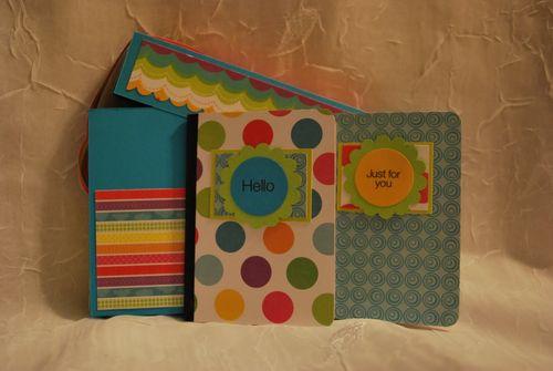Note book set  Lori  quater fold box