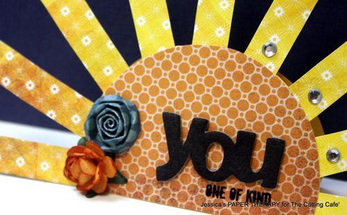 You One of a kind  Jessica Santiago - sun shaped card