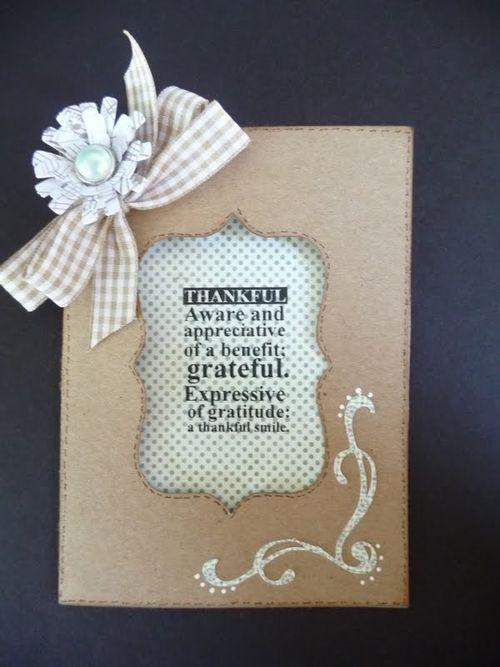 Thankful  Jeri Thomas - window cards and With Gratitude