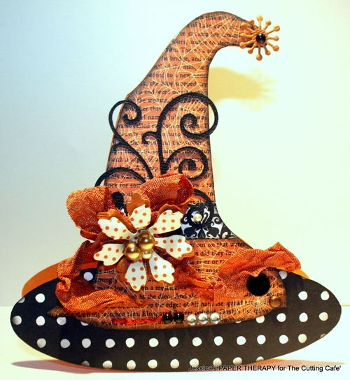 Witch hat  Jessica Santiago - witch hat shaped card