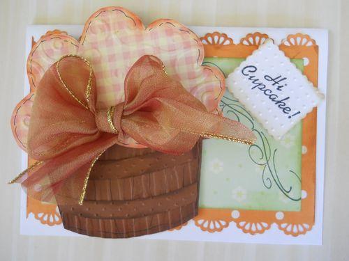 Hi Cupcake - Carole Lowe Beath - cupcake shaped card