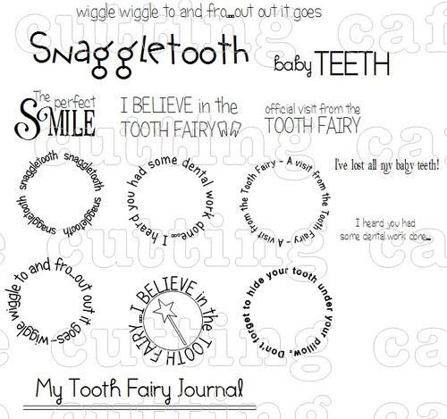 Tooth shaped card set