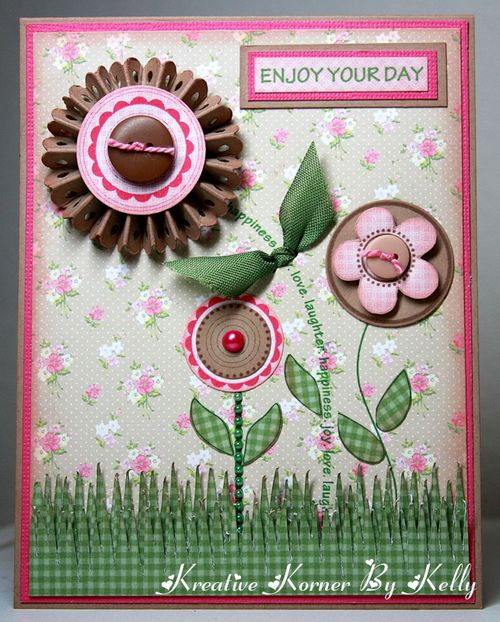 Enjoy your day  Kelly - Sentiment stems and flower tops