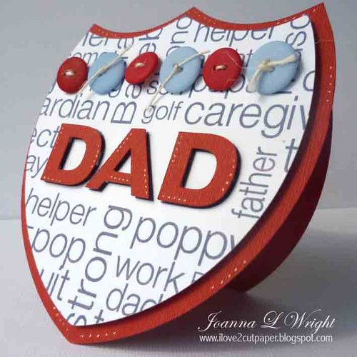 DAD  Joanna Wright - It's road trip time again and Colored dad word block