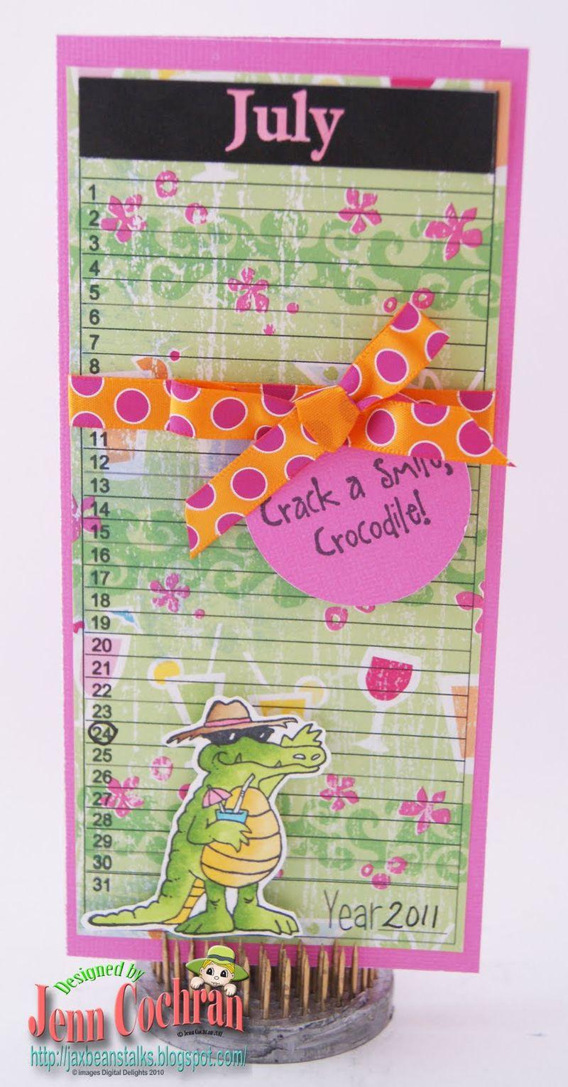 July  Jenn Cochran - Calendar sheets