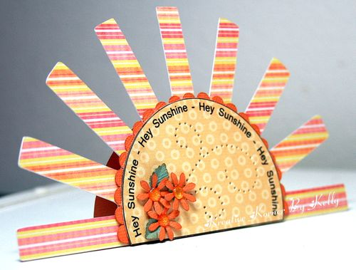 Hey Sunshine  Kelly - Sun shaped card