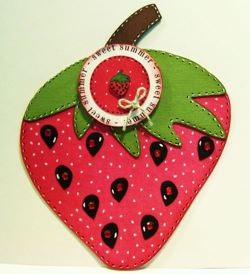 Sweet Summer     Rhonda Zmikly - Strawberry shaped card, Summer Fun and Elisha Jean basket just for you