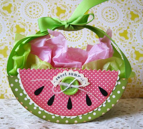 Sweet Summer Lori Hairston - Watermelon Shaped card and Summer Fun set
