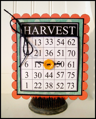 Harvest  Laura Davis - Fall Time Bingo