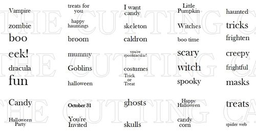HALLOWEEN MINI WORDS