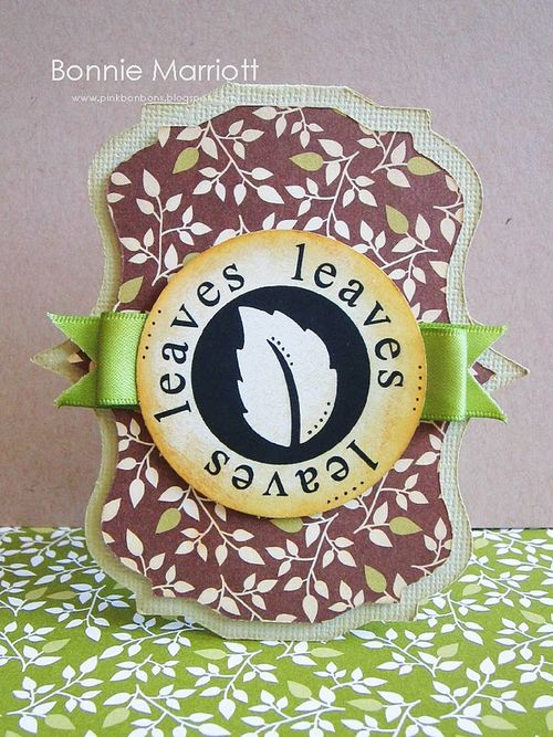 Leaves  Bonnie Marriott  Welcome Fall and Nesting Frames set