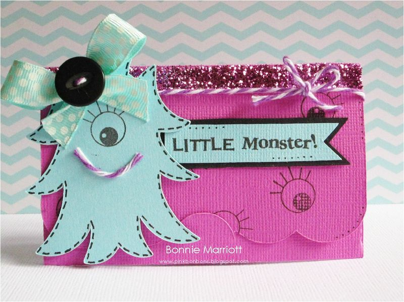 Little Monster - Bonnie Marriott - A bunch of monsters and Gift card holder