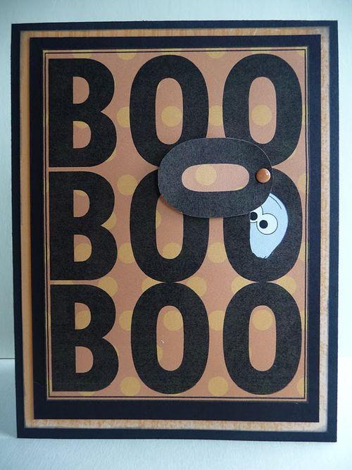 BOO  Jeri Thomas - halloween mini colored set and Halloween spooky sentiments