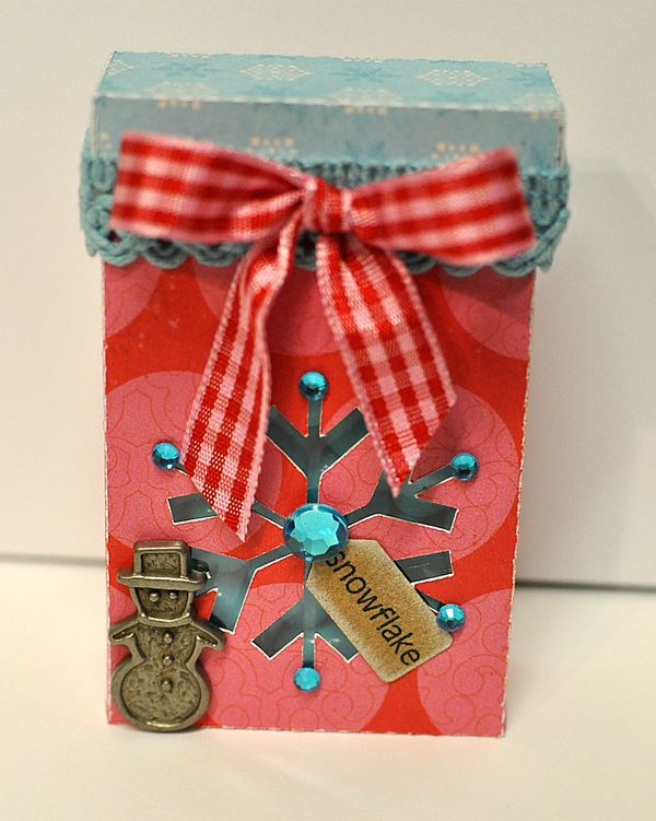 The Cutting Cafe Christmas Tic Tac Holder Box Template