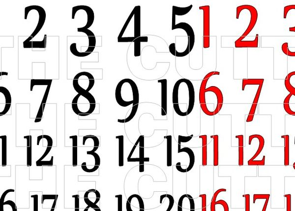 The Cutting Cafe': DECEMBER DAILY NUMBERS....PRINTABLE SET