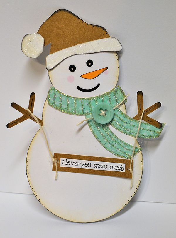 The Cutting Cafe': Snowman Shaped Card .Template - Cutting File