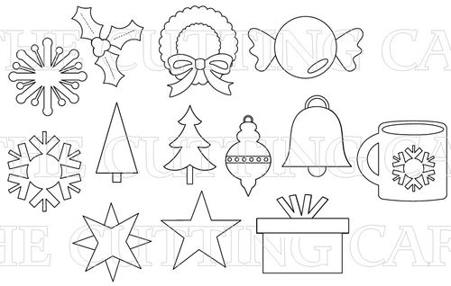 The Cutting Cafe': CHRISTMAS BASIC SHAPES FILES