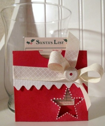 Santa List  Laura Davis - Christmas Pockets