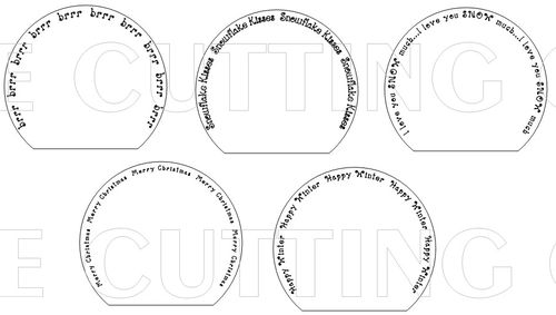 the cutting cafe snow globe shaped card template cutting file