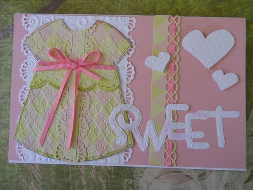 Sweet  Carole Lowe Beath - Dress shaped card 2