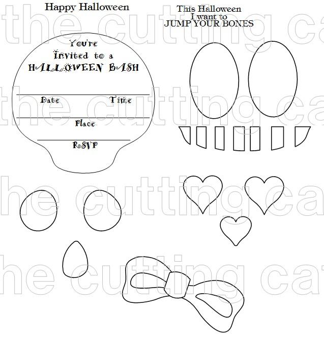 Skull shaped card