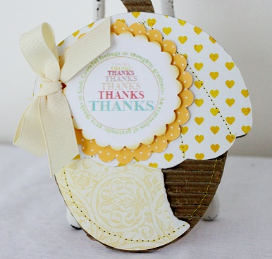 Thanks  Penny  Shuberg Acorn  Shaped Card - With Gratitude