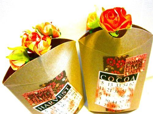 Harverst & Cocoa boxes  Bonita Rose - Pillow boxes