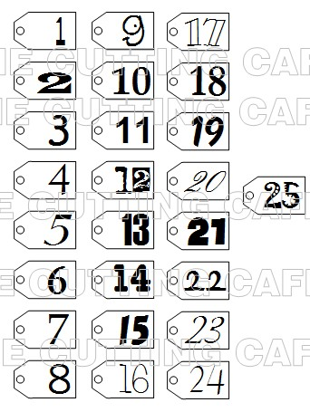 picture relating to Christmas Numbers Printable known as The Reducing Restaurant: DECEMBER Day by day Figures.PRINTABLE Fastened