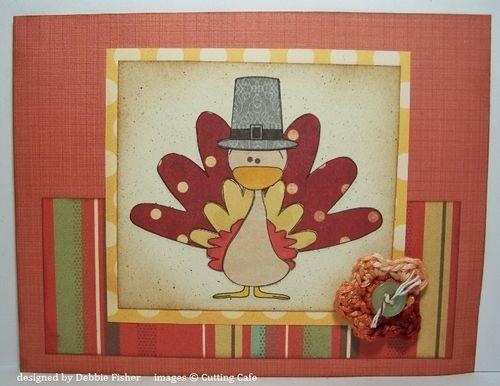 Paper Pieced Turkey  Debbie Fisher - Thanksgiving Day